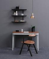 Monza Writing Desk & Keeva Chair & Quinn Wall Shelf