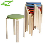 bentwood round stool birch wood stool