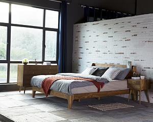Taya Bed Solid Wood