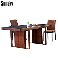 luxury MDF tempered glass restaurant design dining table M8T