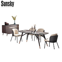 MDF glass top dining room furniture dining table MG4T