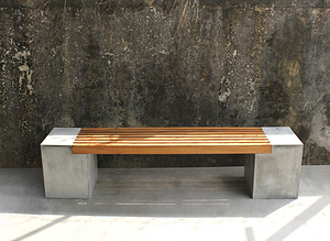 CO-Bank-with-wood-big Bench Long Chair Couch
