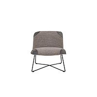 Fly Armchair fabric+leather melange antracit nubuck dark grey