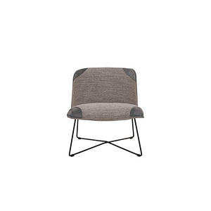 Fly Armchair fabric+leather melange antracit nubuck dark grey
