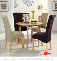 COS-AJOY DINING SET (1+4) (ROUND TABLE)