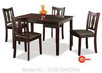 COS-SANDRA DINING SET (1+4)