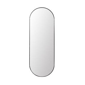 Nordic Oval mirror - black