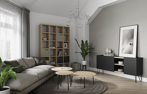 Ply_Coffee_Table-Pombal_Bookcase-Nina_Sideboard