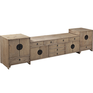 Ancient Age furniture Reclaimed pine wood Chinese traditional simple TV cabinet