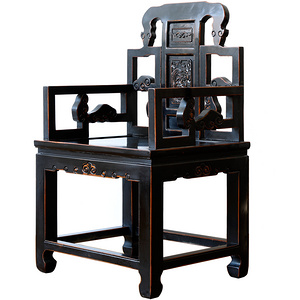 Ancient Age furniture Chinese distressed paint royal chair