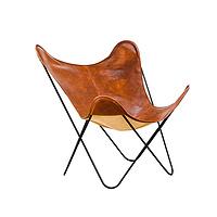 TENGYE Nordic Cowskin Creative Butterfly Chair Balcony Lifting Chair Designer Furniture Single Iron Art Leisure Chair TY-812D