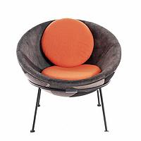 TENGYE European Moon Chair Designer FRP Leisure Chair Simple Creative Sofa Egg Chair TY-405