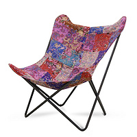 TENGYE Creative Butterfly Chair Fabric Designer Furniture Single Iron Leisure Chair Factory Direct Selling TY-812C
