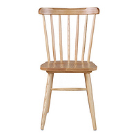 TENGYE Solid Wood Dining Chair Nordic Classic White Wax Wood Windsor Chair Hotel Household Solid Wood Backrest Chair GW013