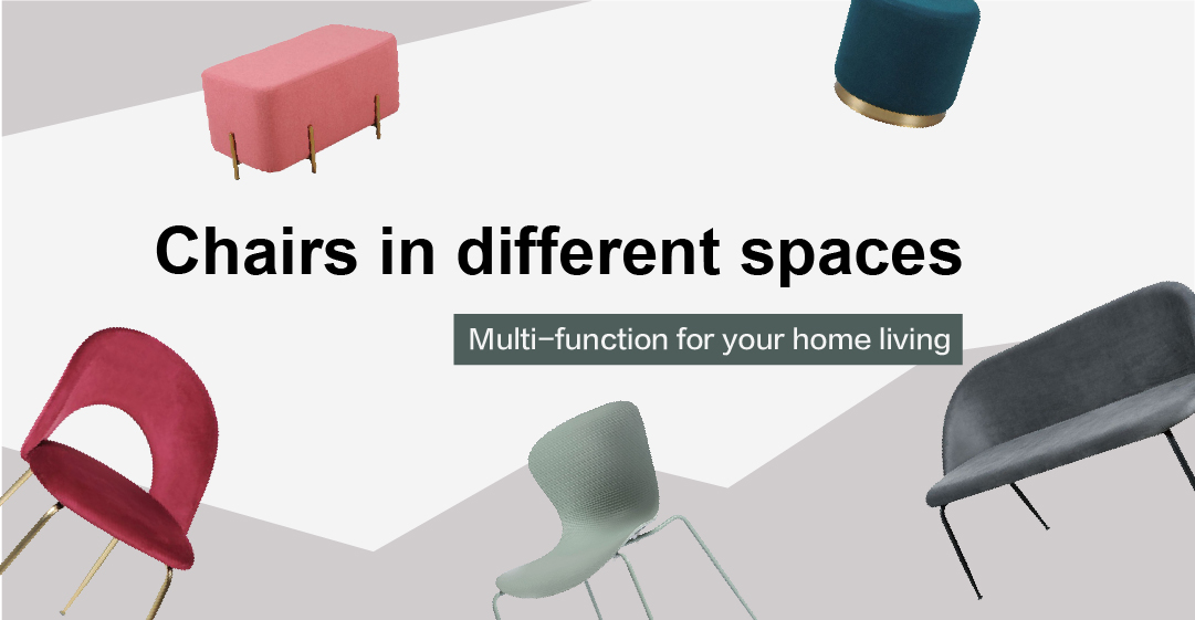 chairs in different spaces