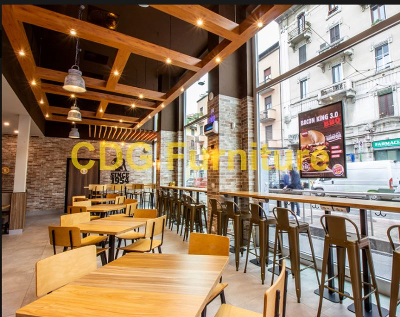 Mcdonald\'S Burger King KFC Subway Starbucks Wendy\'S Chain restaurant Furniture Chair 658B-H45-STW 4
