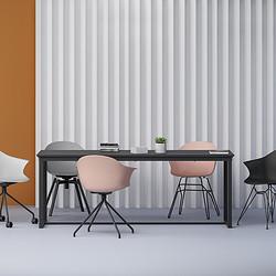 MEET-10B  Leisure chair with castor/office chair