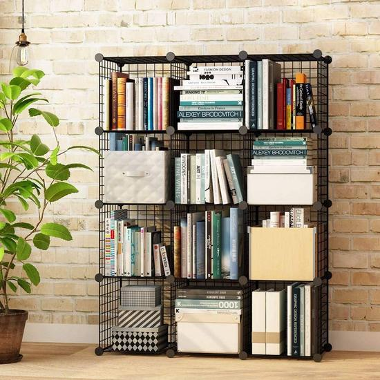 12 Cube Wire Storage Shelves