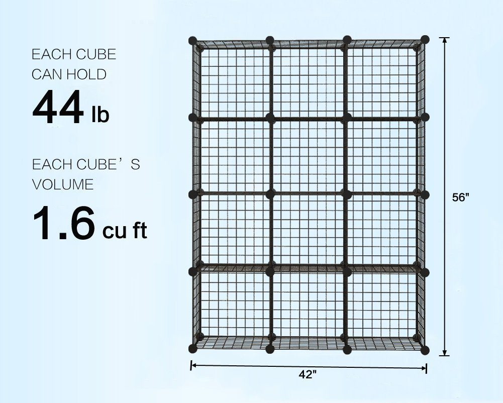 12 Cube Wire Storage Shelves 4