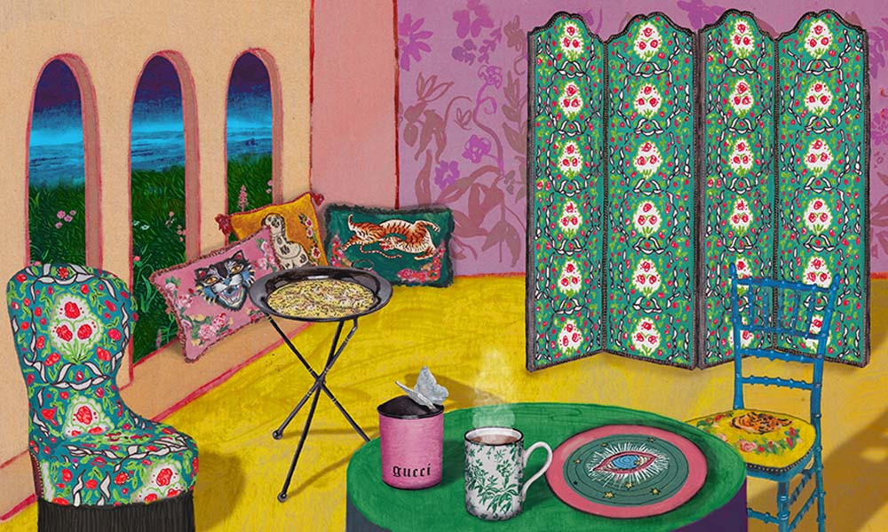 Gucci Décor, 2018 ,The New Gucci Décor 2018 Collection Is Motivated by The History of Italian Culture