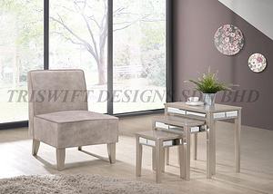 TS Claribel Armchair Lounge Chair Coffee Table