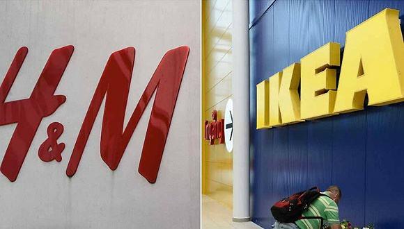 H&M, IKEA,With IKEA