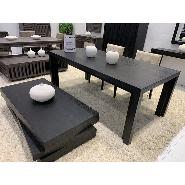 Black Smoked wood Dinning Table