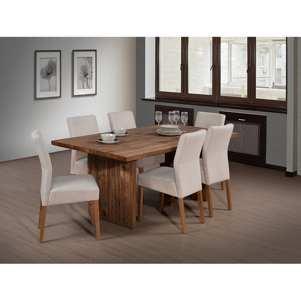 Brussels Oak Dinning Table and Chair