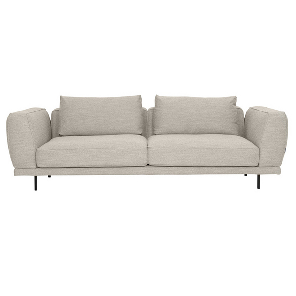 Grey Fabric Sofa 3 Seaters