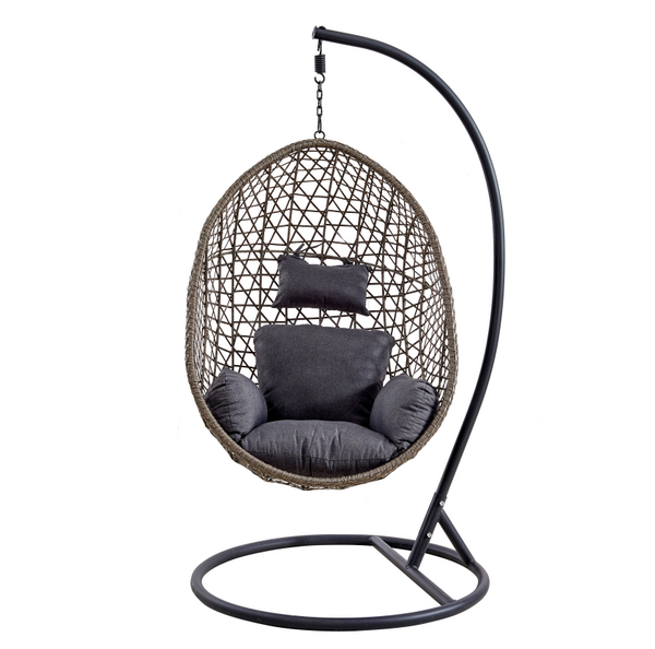 Outdoor Garden Furniture Rattan Hanging Chair Egg Patio Swings Chair