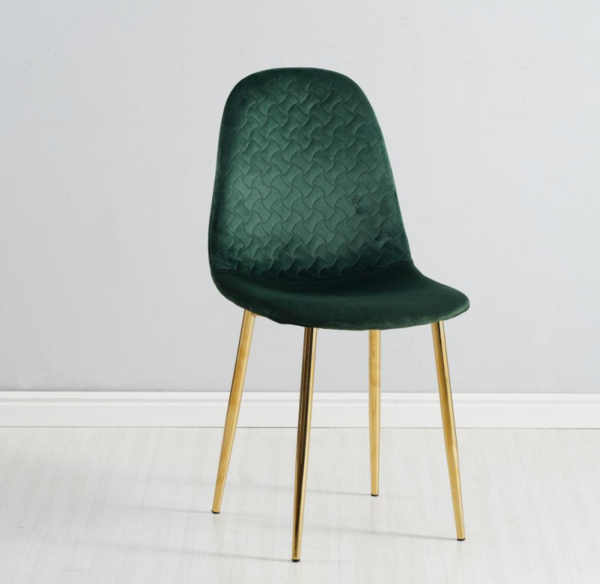 Velvet Fabric Dining Chair