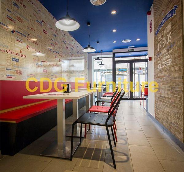 Manufacturer Commercial Restaurant Furniture Simple Design Modern Metal Loft Industrial Chair Restaurant  796S-H45-ALU