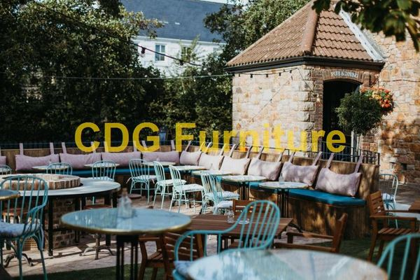 Wholesale Price Industrial Vintage Finish Cafe Restaurant Dining Metal Chairs Aluminium Outdoor Garden Furniture 749MS-H45-ALU