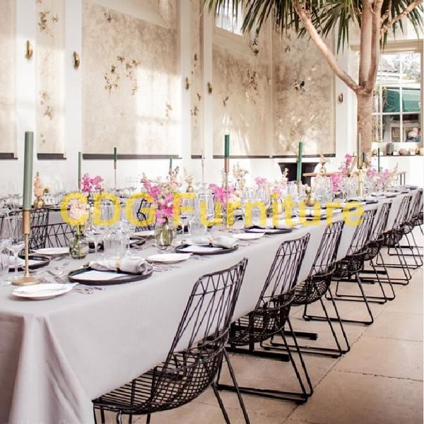 Modern Design Outdoor Indoor Metal Wire Chair Harry Bertoia Garden Cafe Restaurant Iron Wire Dining Chair 696-H45-ST