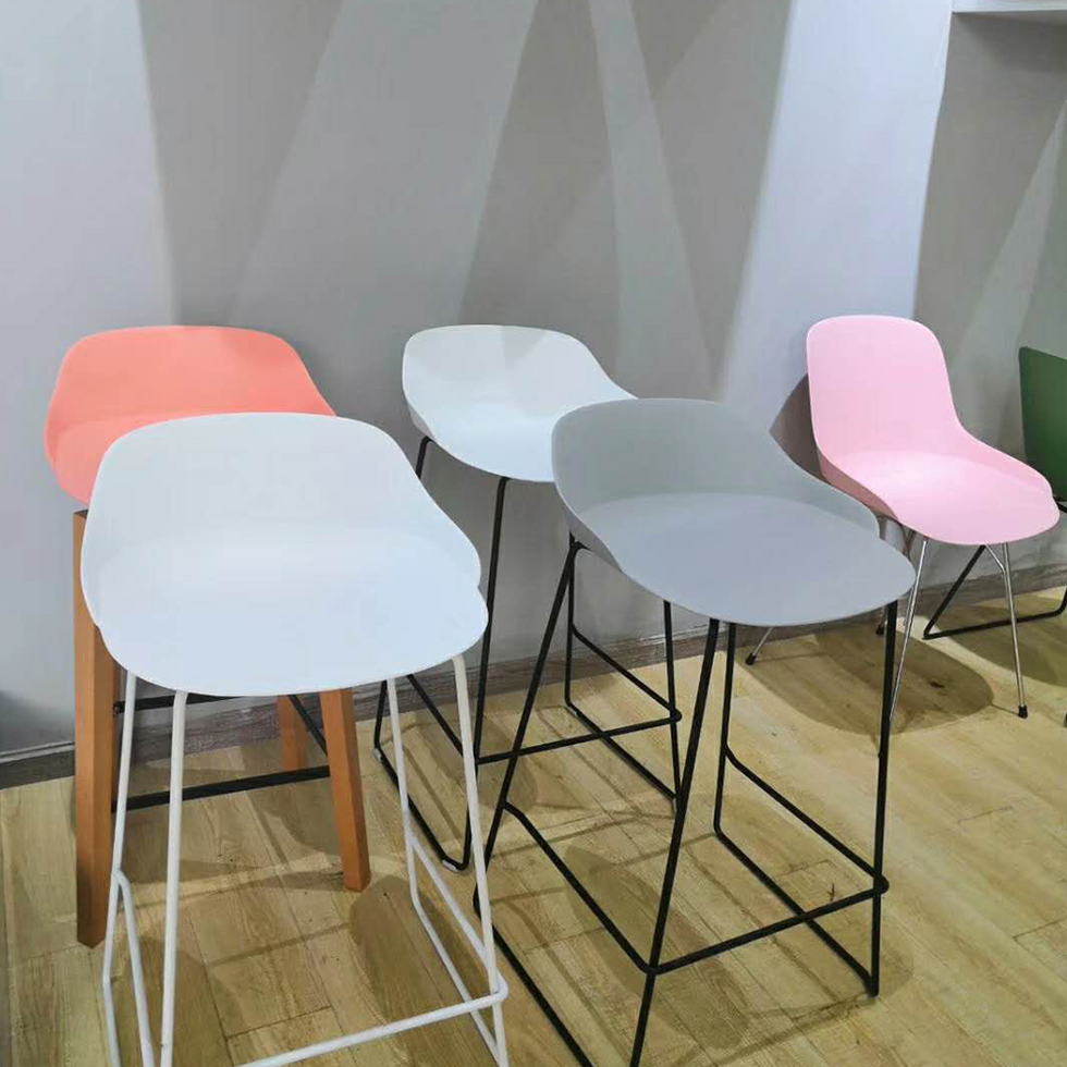 Contemporary commercial upholstered high  bar chair stool