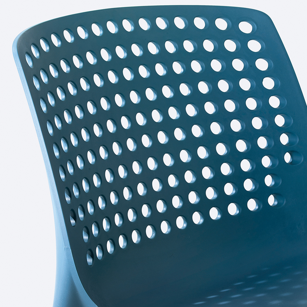 High quality plastic office dining chair with hole back