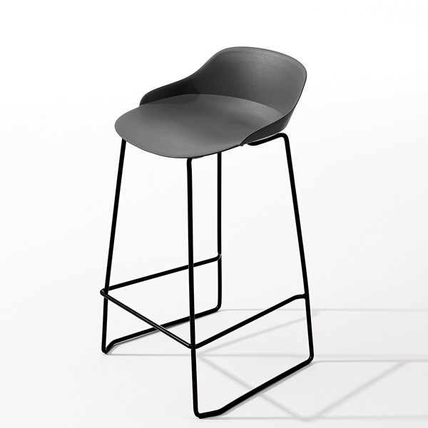 Design high  bar chair with metal plastic