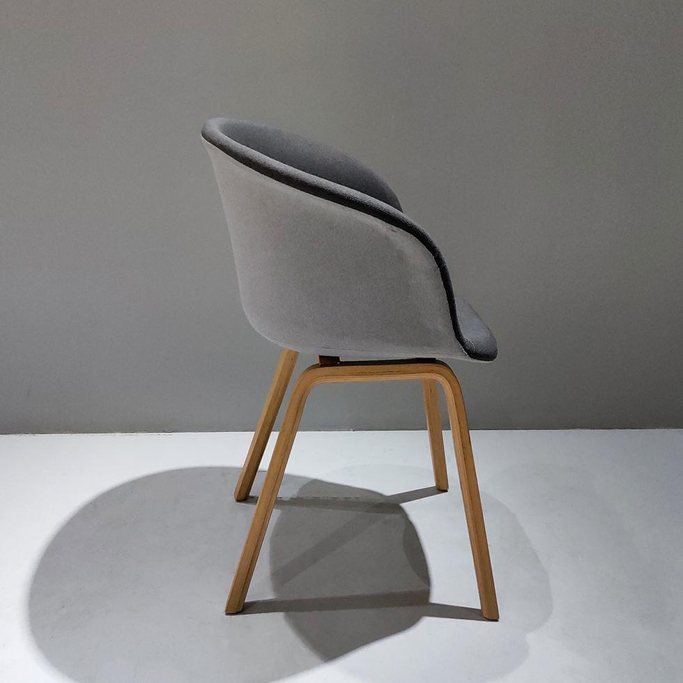 Modern upholst soft cloth fabric dinning chair armchair