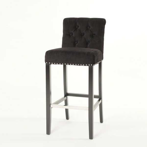 Modern solid Wood Fabric Leisure Barstool/ring back Bar chair (KY-3207)