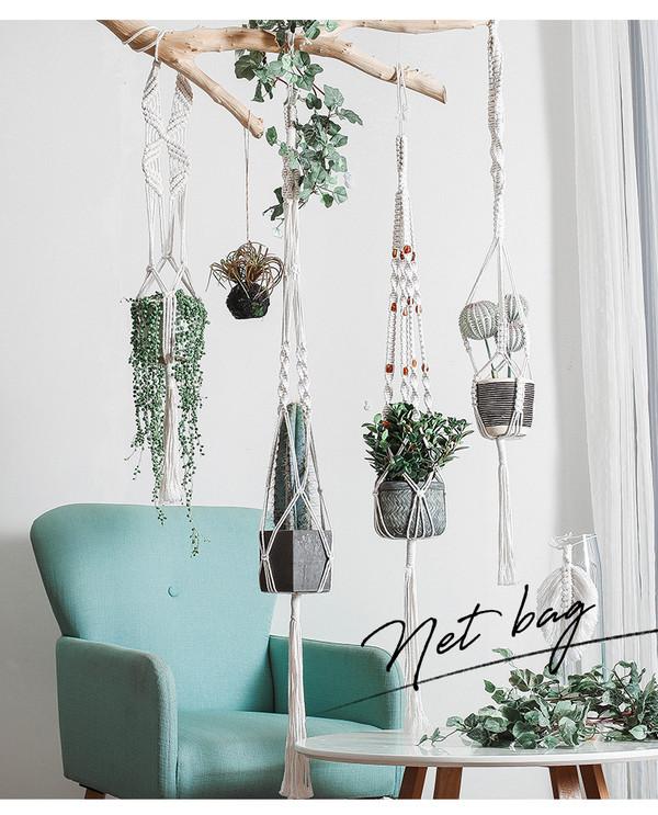 macrame plant hanger -4 designs