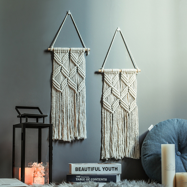 macrame cross knited handmade wall hanging 044