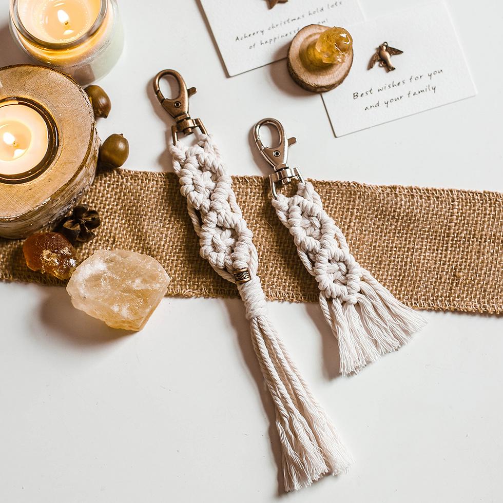 fish keychain boho handmade