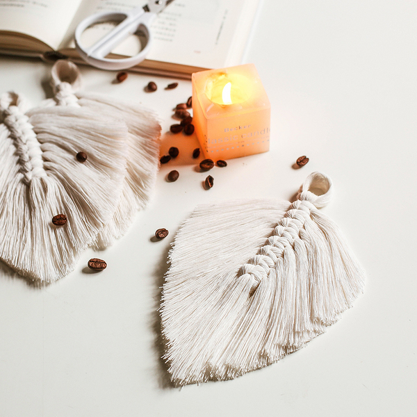 cotton knited leaf hanging for home decor 042