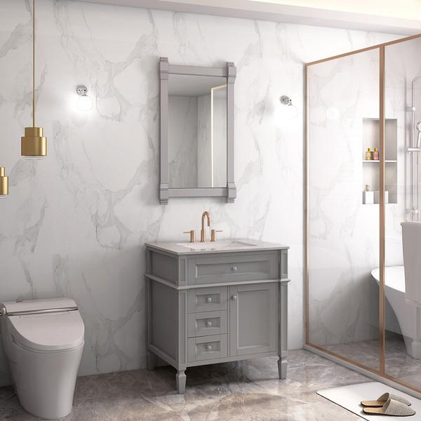 Hot Sale Grey Painting Freestanding Floor Drawer Bathroom Basin Cabinet Pantone