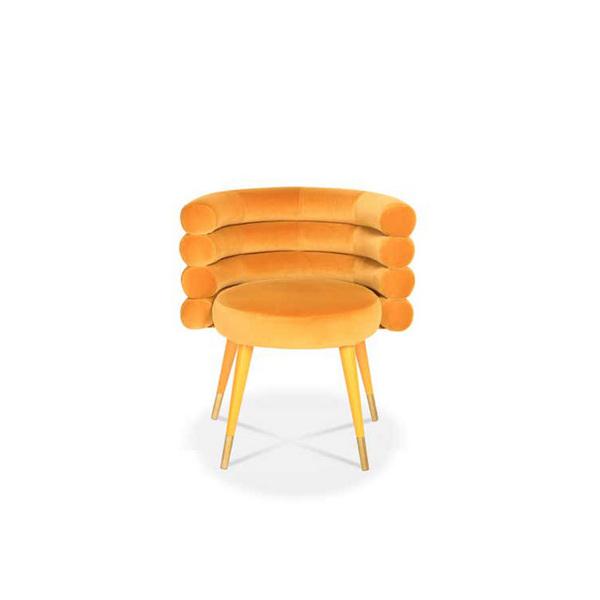 MC-4239 Bright Yellow Fashionable Single Dining Chair