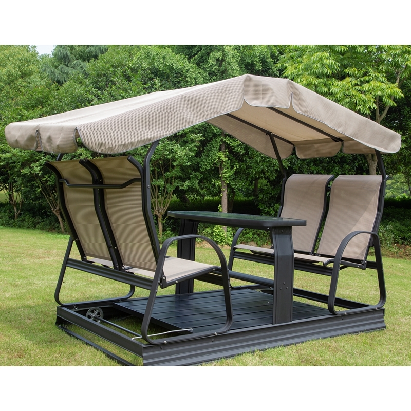 4-seater swing chair