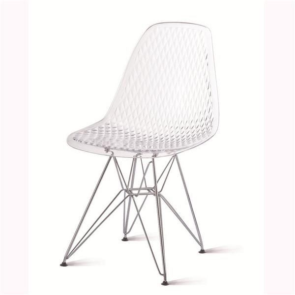 gloden and silver leg diamond chair