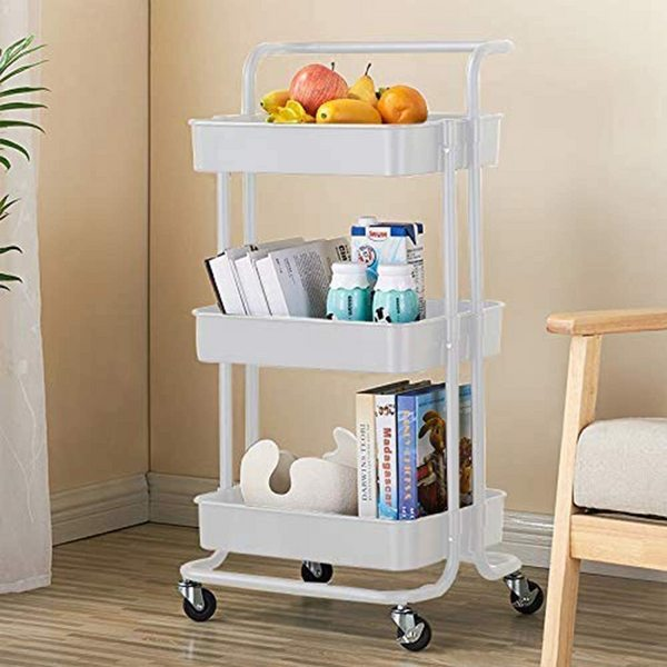 Trolley Utility Rolling Cart Mobile Organize Shelf