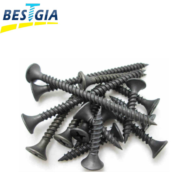 Factory supply inch & Metric c1022a factory price phillips black bugle head drywall screw
