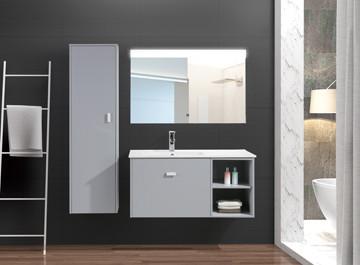 Contemporary Ceramic Basin Wood Lacquer Bathroom Cabinets-MPYJ-26